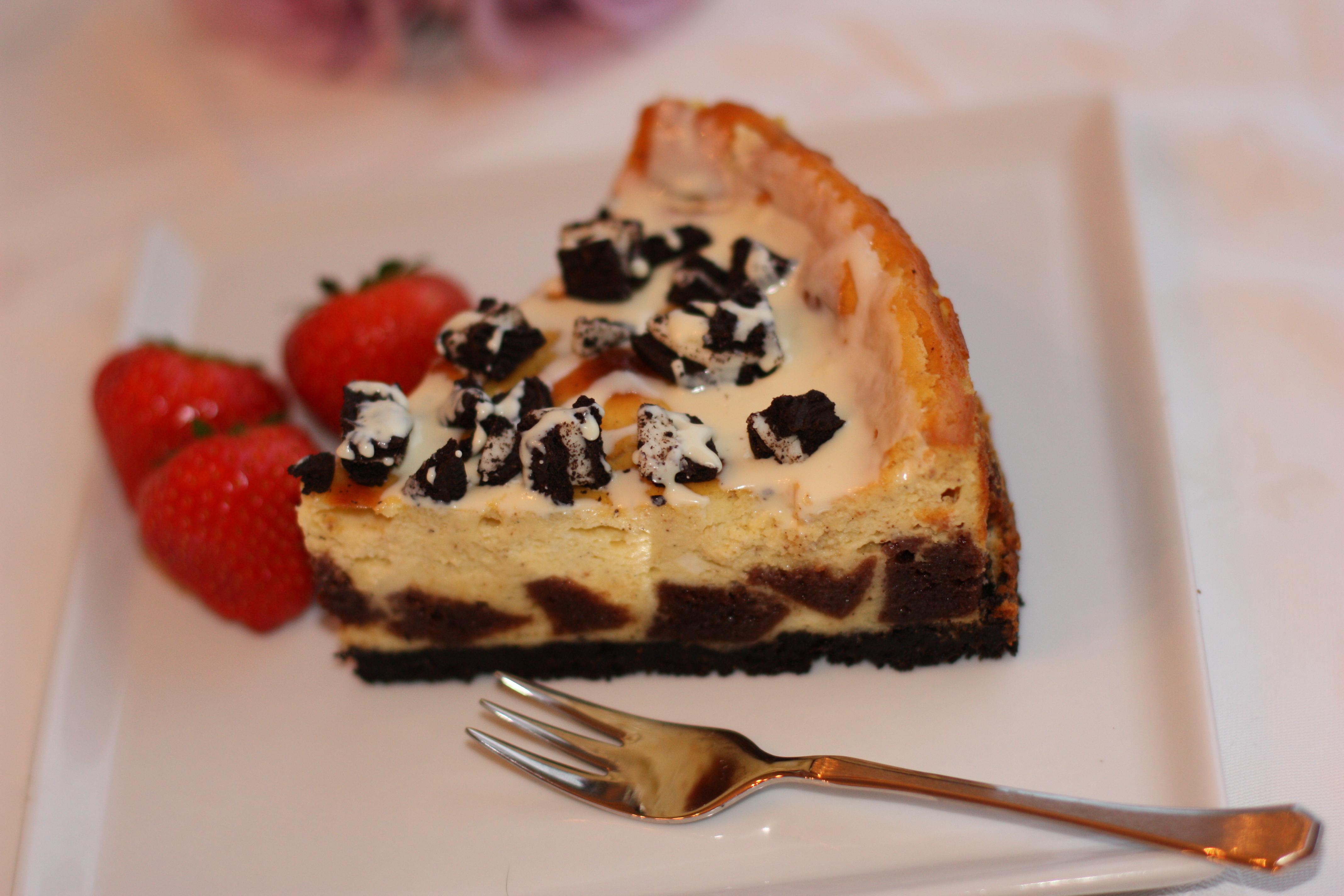 Oreo Brownie Mosaic Cheesecake - Bakeprosjektet