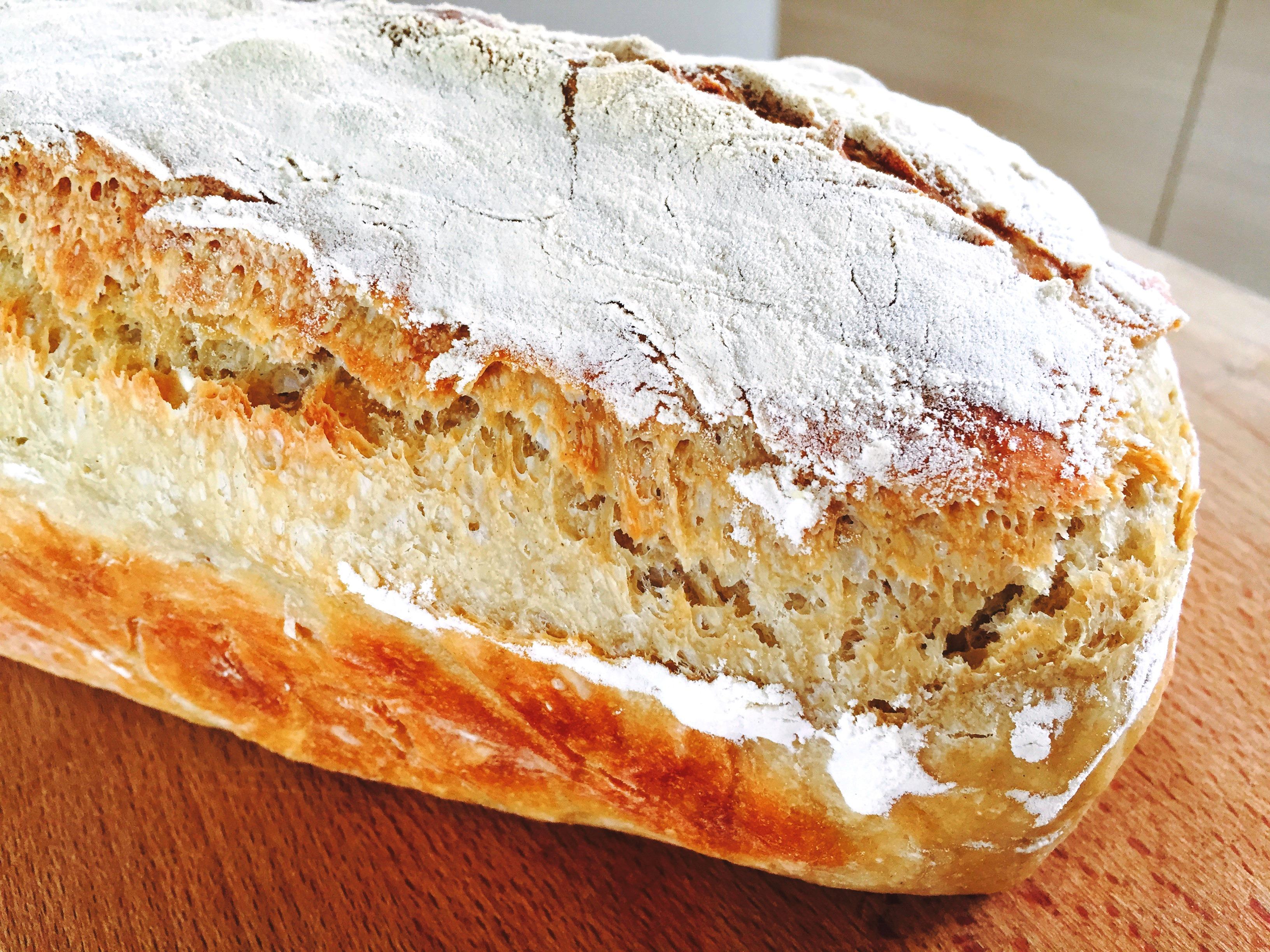 eltefritt grovbrød i brødform