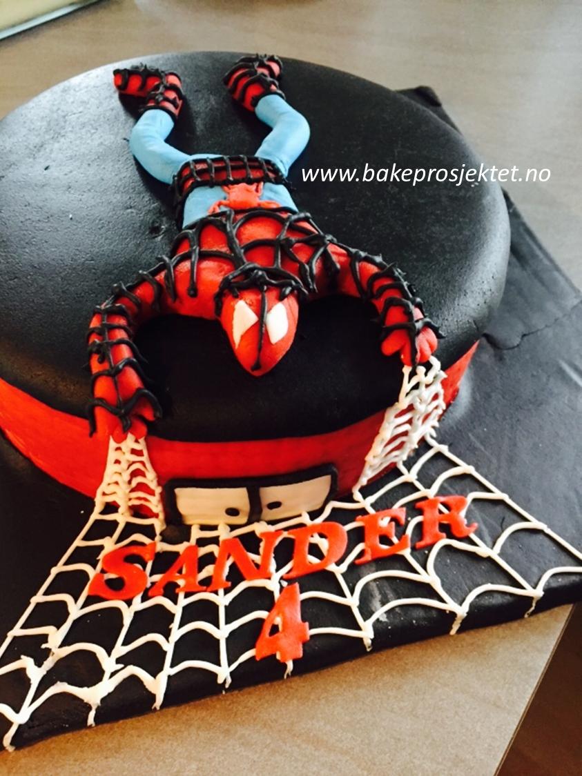 Spiderman Spidermann Kake Trondheim