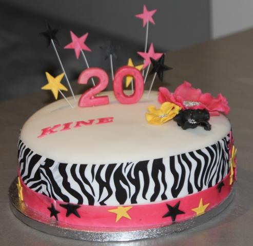 Kake rosa Zebra stjerner