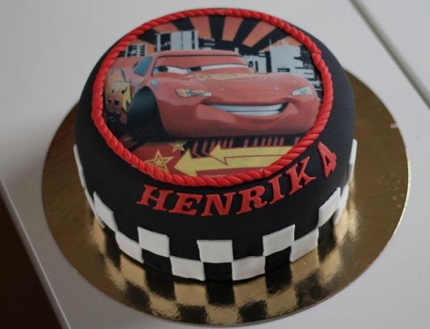 Kake med Lynet mcQueen 4 årsdag