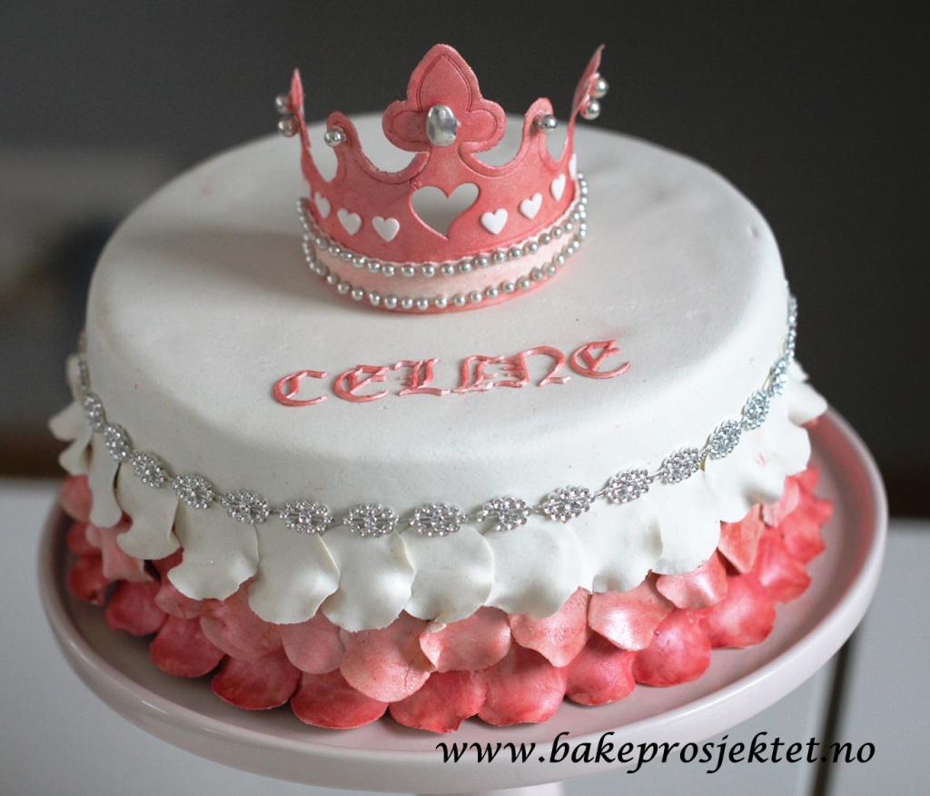 Prinsessekake Rosa kake jente prinsesse krone
