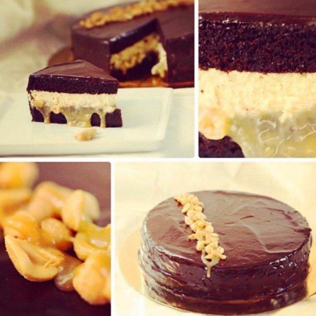 Den kaka her alts den saftigste sjokoladekaken med bakt ostekakefyllhellip