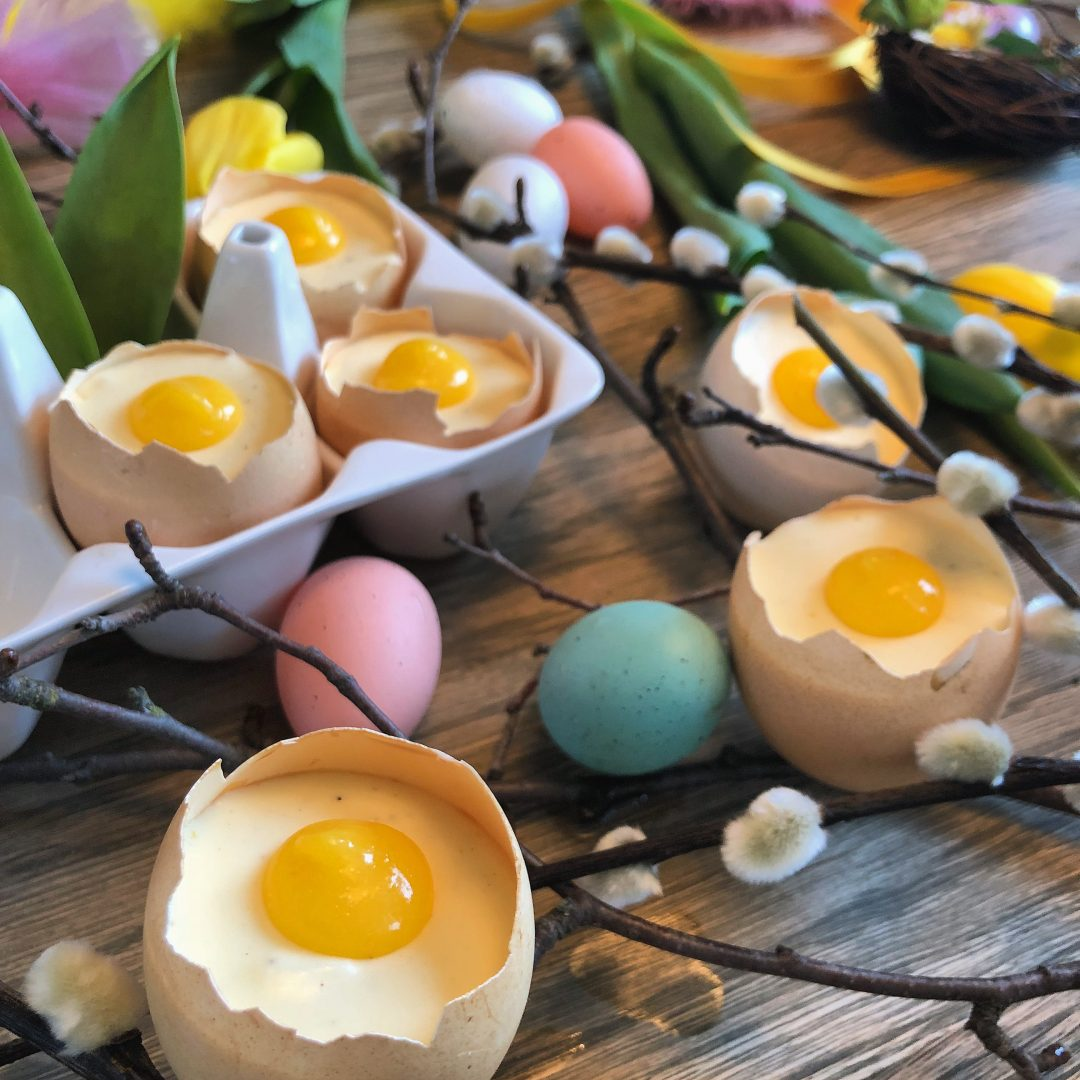 Oppskrift påskeegg dessert påske egg sjokolademousse
