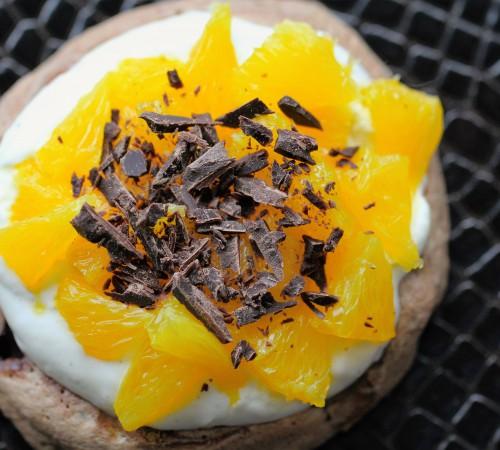 Sjokoladepavlova med appelsin og krem