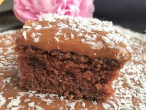 Superenkel saftig langpanne sjokoladekake